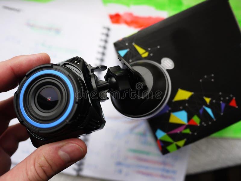 Affichage de caméscope de voiture Ils sont employés pour installer à l'intérieur de la voiture et pour enregistrer ce qui se prod photos stock