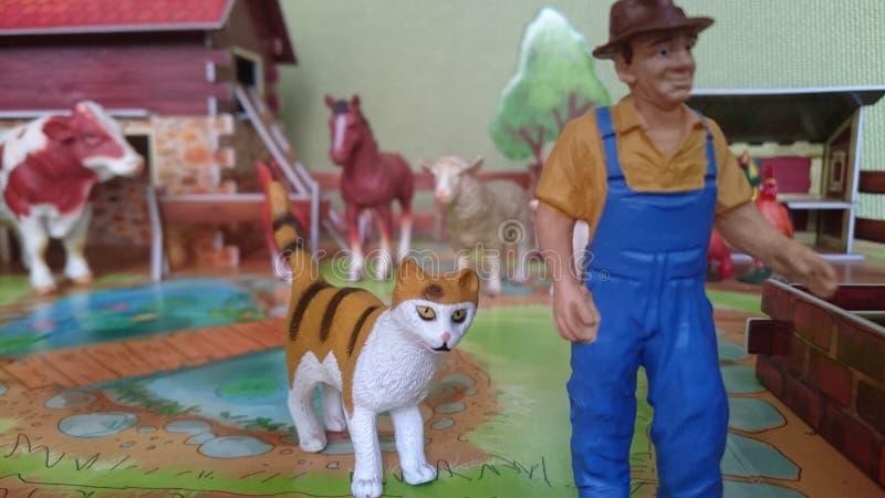 Affichage de diorama de la ferme d'animaux photo stock