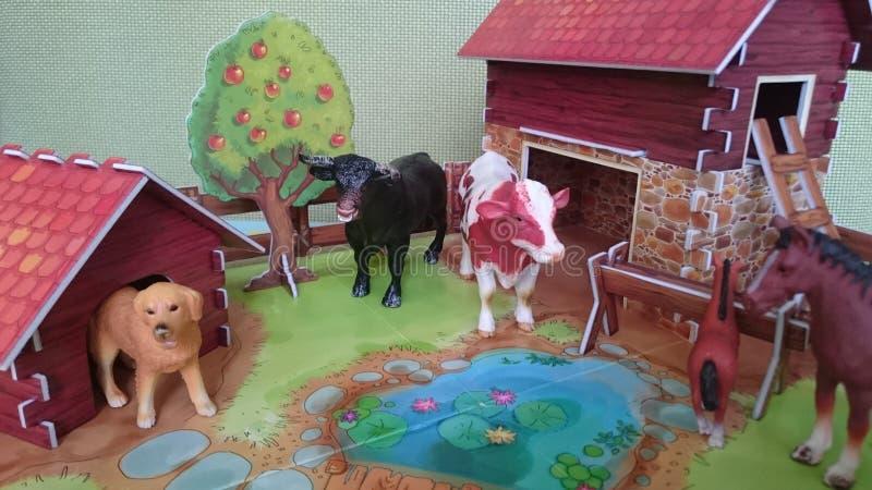 Affichage de diorama de la ferme d'animaux photographie stock