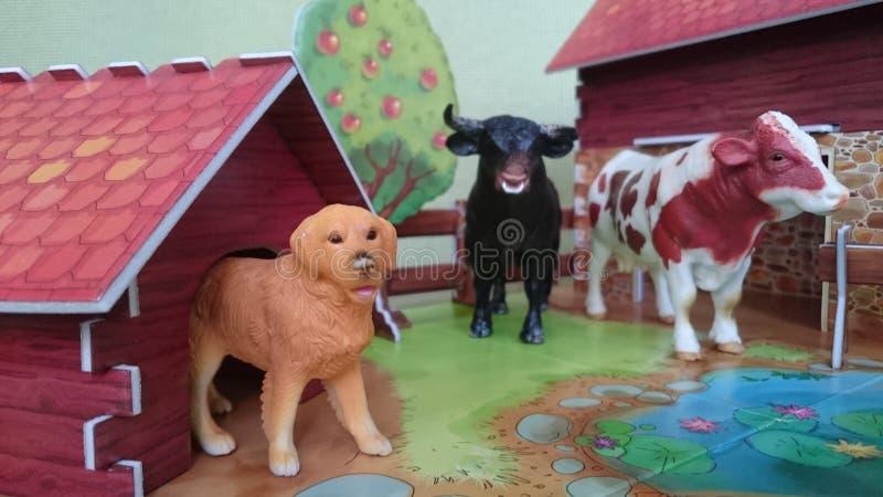 Affichage de diorama de la ferme d'animaux photo libre de droits