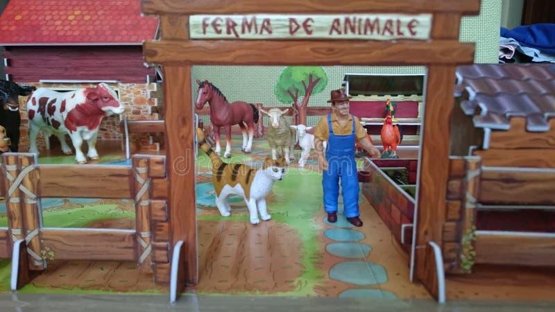 Affichage de diorama de la ferme d'animaux photographie stock libre de droits
