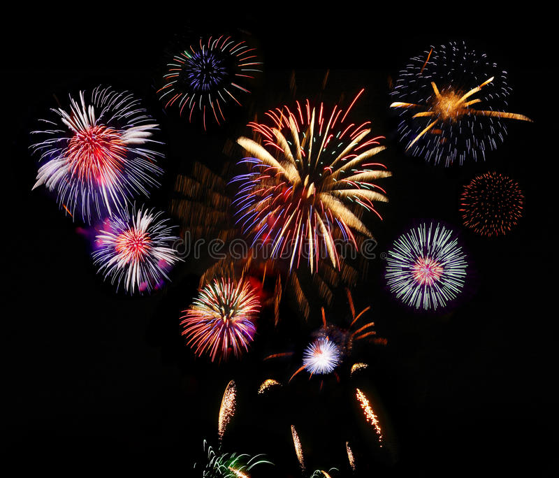 Affichage de feu d'artifice photo stock