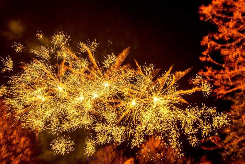 Affichage de feux d'artifice photo stock