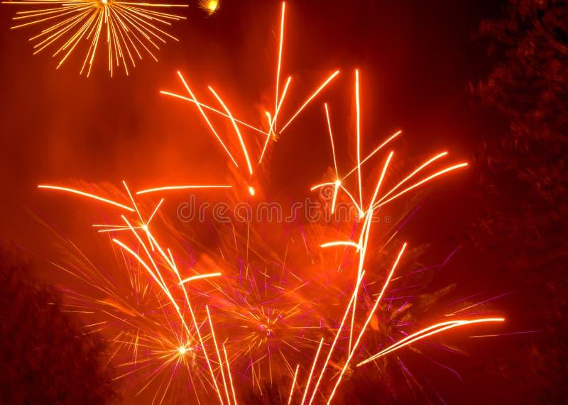 Affichage de feux d'artifice photos stock