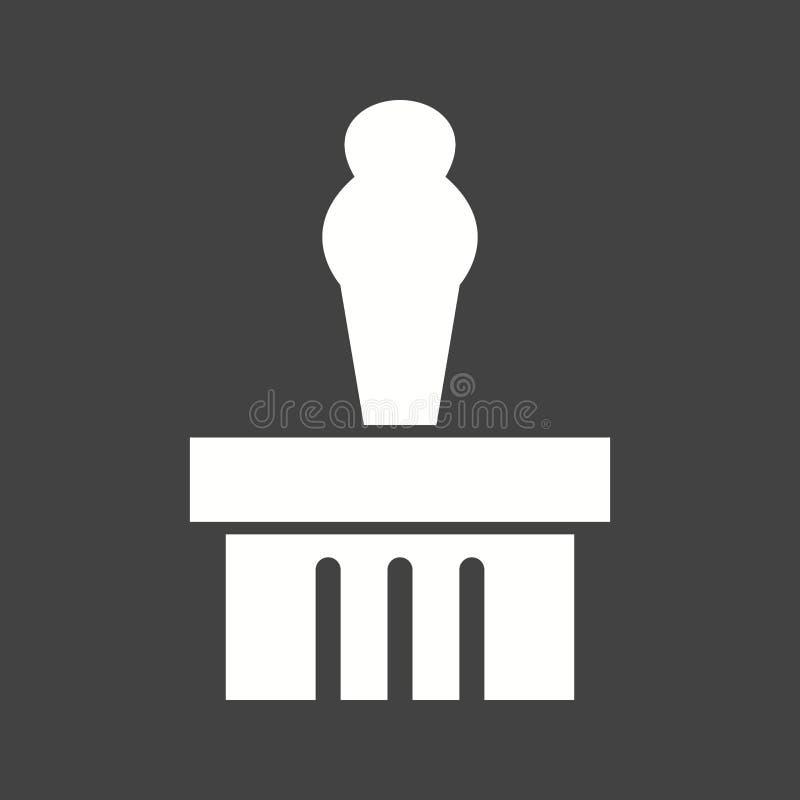 Affichage de monument illustration de vecteur