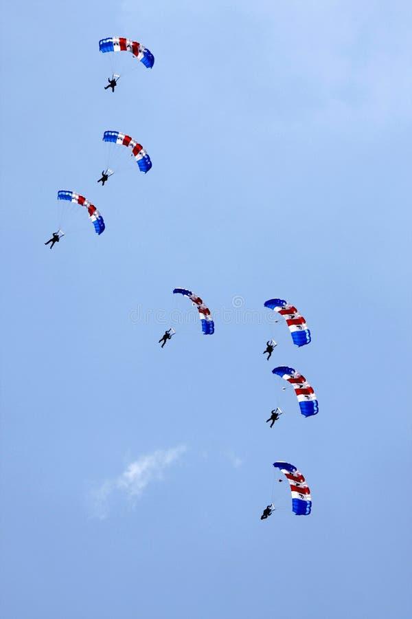 Affichage de parachute de faucons de RAF photos libres de droits