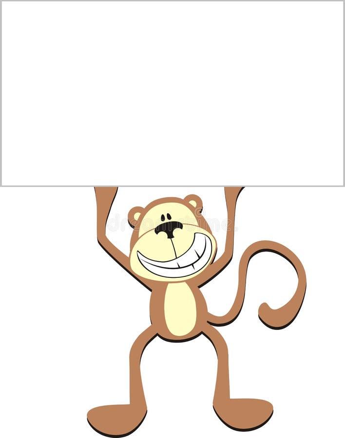 Affichage de singe illustration libre de droits