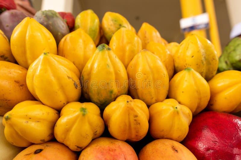 Affichage exotique de fruits photographie stock