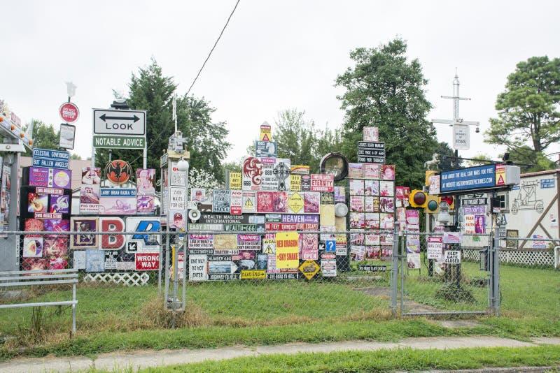 Affichage intéressant de yard image libre de droits