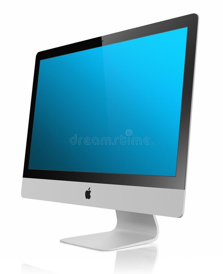 Affichage neuf de l'iMac 2012 5mm photographie stock