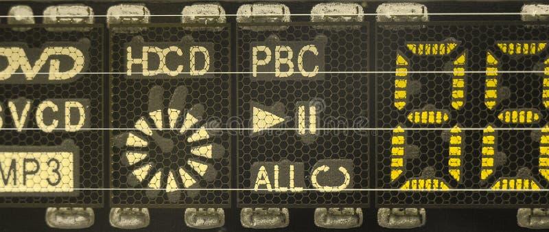 Affichage numérique du magnétoscope photos libres de droits