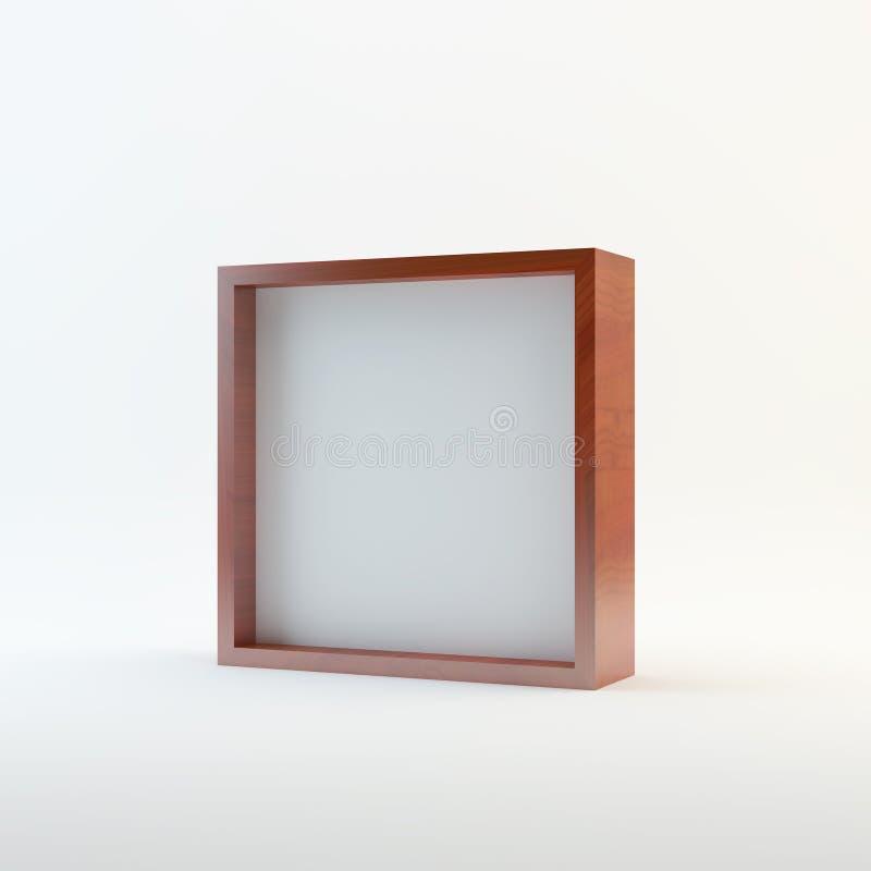 Affichage vide en bois de boîte illustration libre de droits