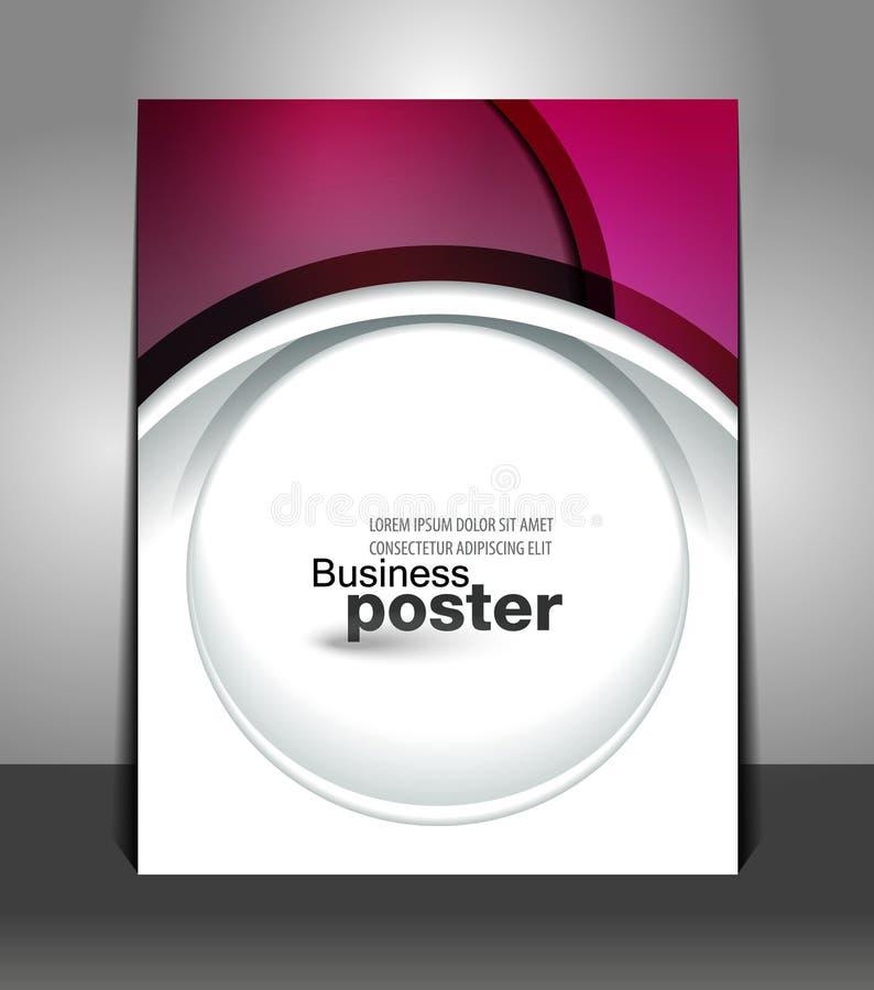 Affiche élégante de conception graphique illustration stock