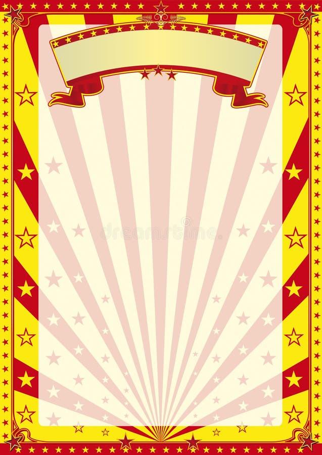 Affiche éliminée par cirque illustration libre de droits