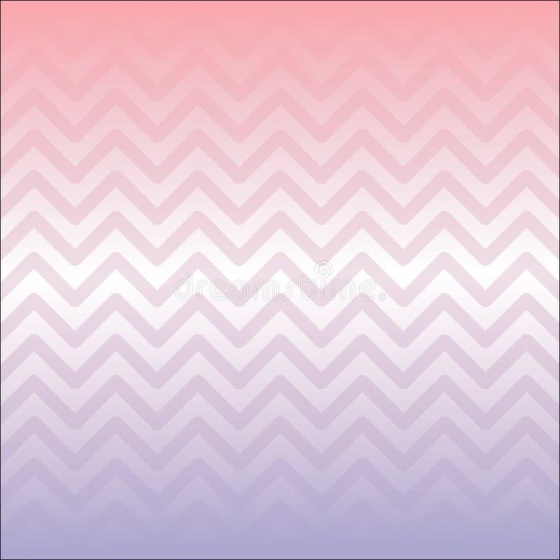 Affiche abstraite de style de MobileCreative le zigzag Rose-pourpre de gradient forme le fond Prêt à employer pour des annonces,  illustration libre de droits