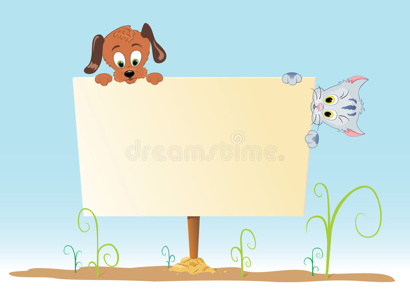 affiche animale images stock