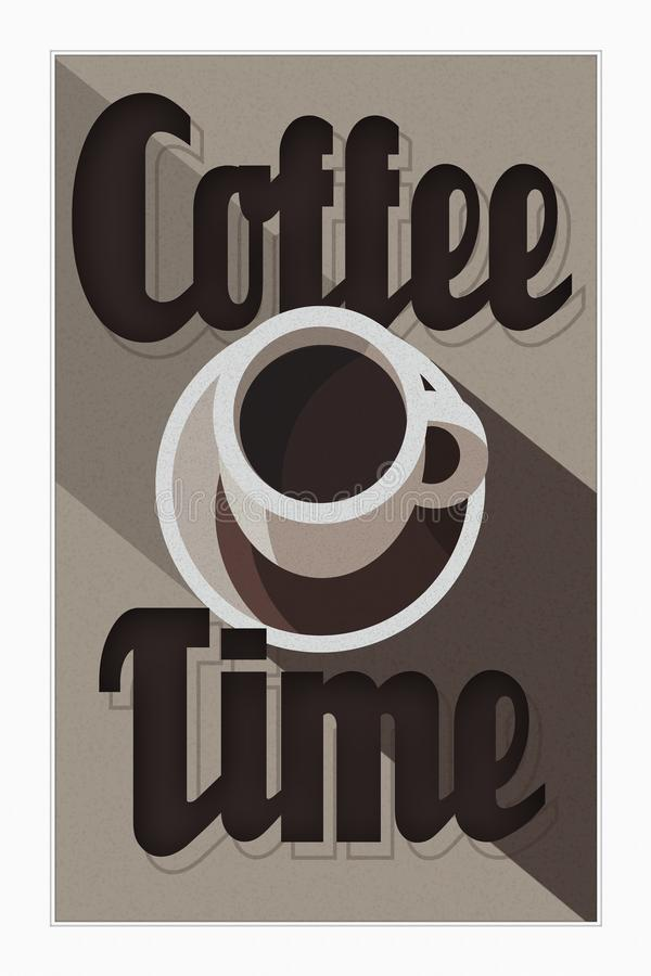 Affiche Art Deco de temps de café illustration libre de droits