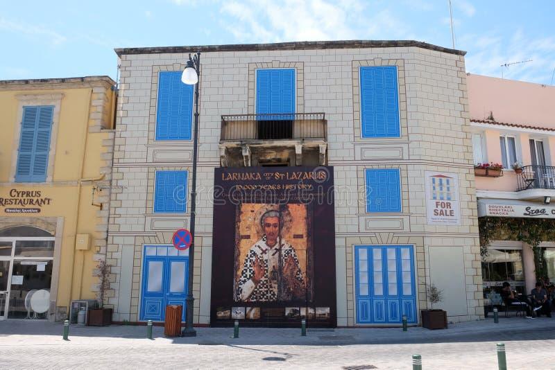 Affiche avec l'image iconographique de St Lazarre image libre de droits