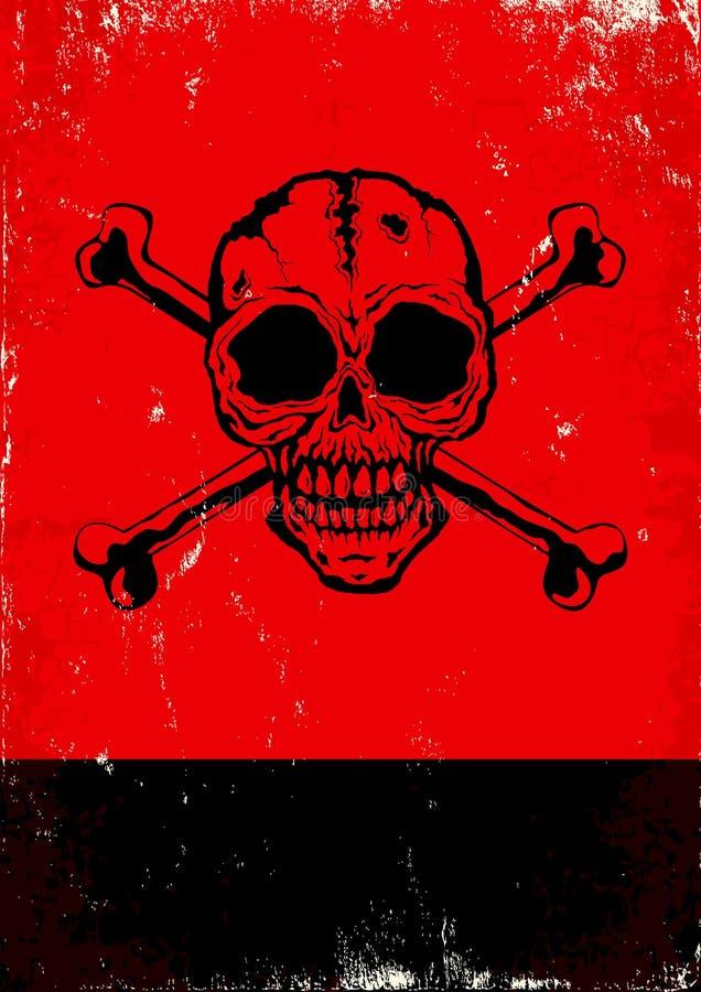 Affiche avec le crâne illustration de vecteur