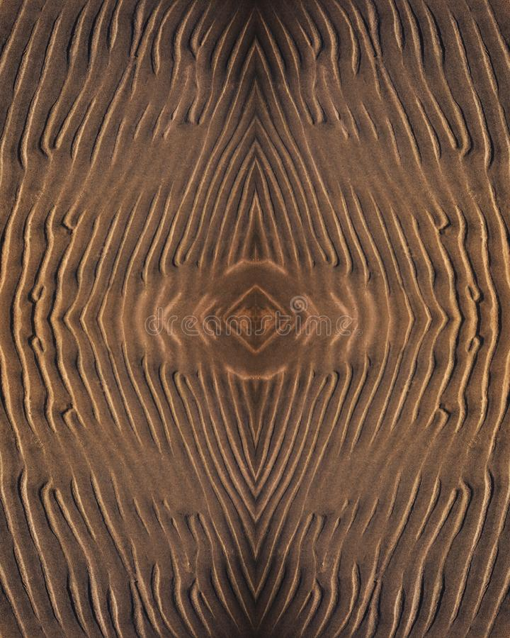 Affiche avec un ornement arénacé de fond avec un modèle des lignes légères au centre image stock