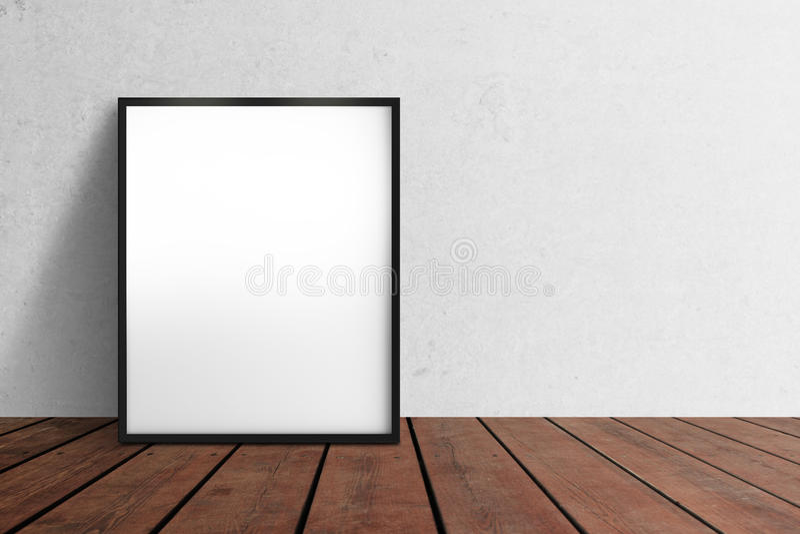 Affiche blanc illustration stock