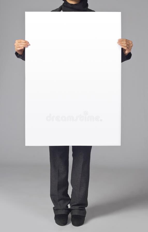Affiche blanc photos stock