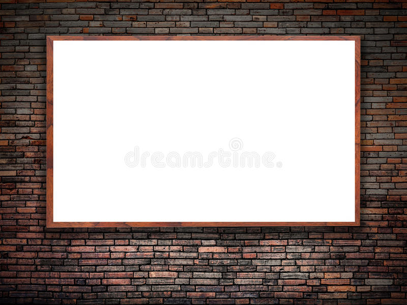 Affiche blanche vide illustration stock