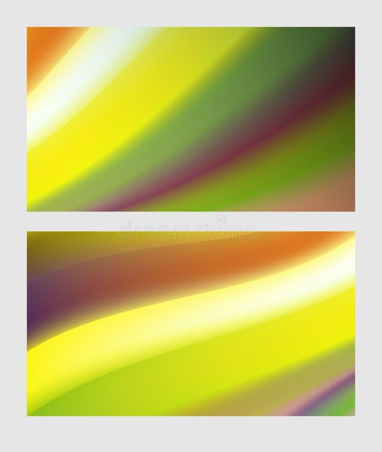 Affiche colorée moderne d'écoulement Fond liquide de couleur de forme de vague illustration stock