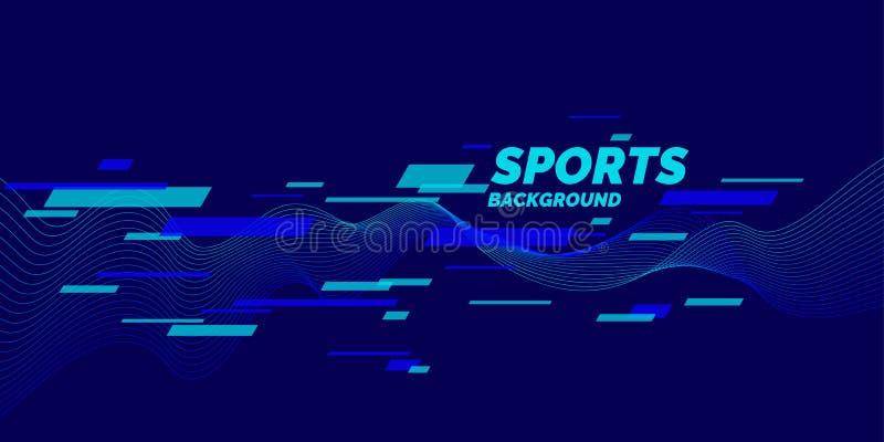 Affiche colorée moderne pour des sports illustration de vecteur