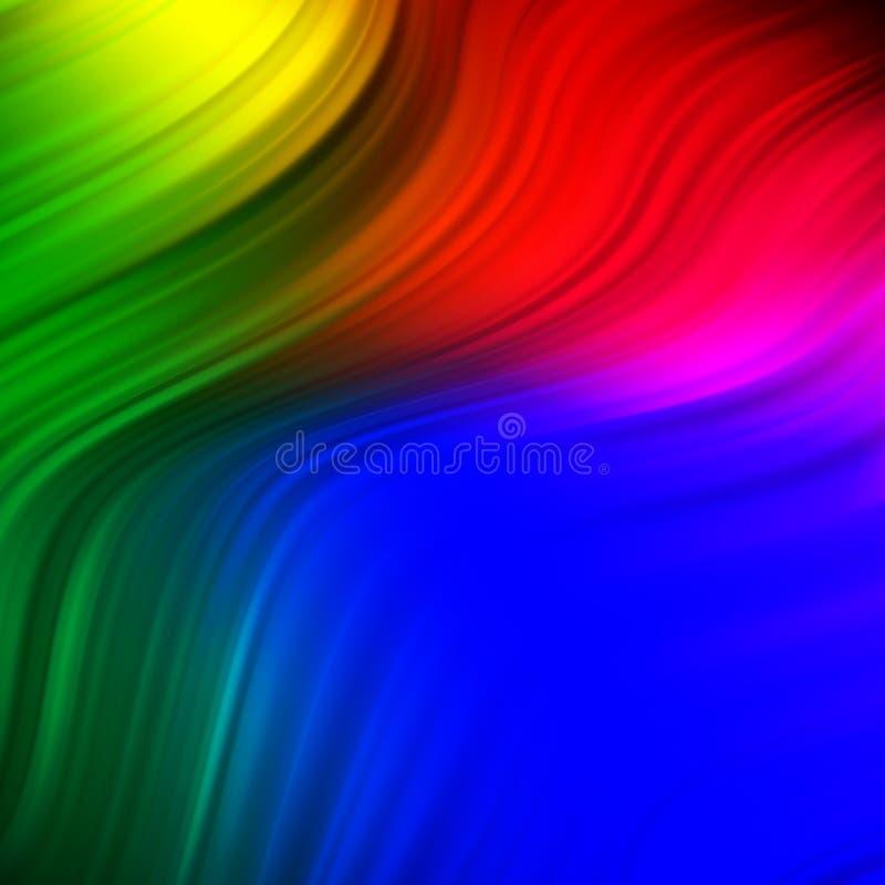 Affiche color?e moderne d'?coulement Fond liquide de couleur de forme de vague Conception d'art pour votre projet de conception illustration stock