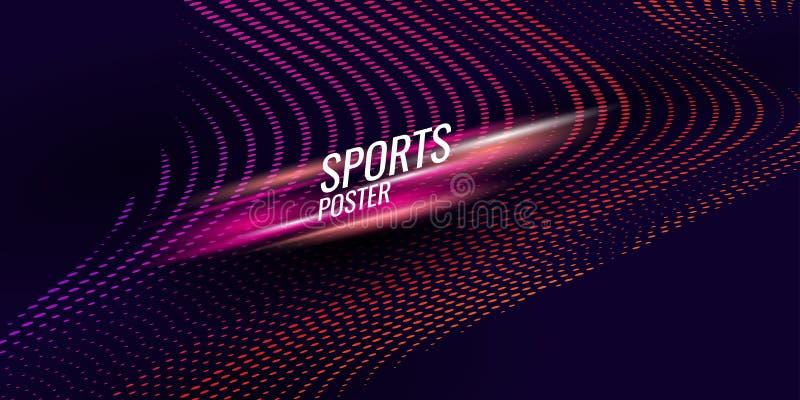 Affiche color?e pour des sports Illustration appropri?e ? la conception illustration libre de droits