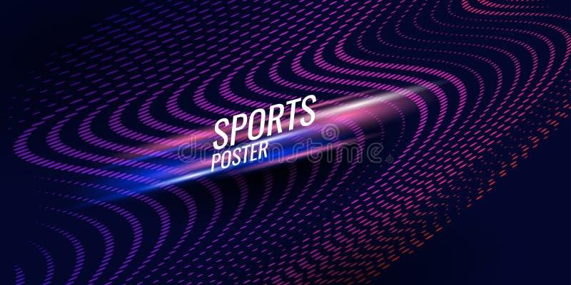 Affiche color?e pour des sports Illustration appropri?e ? la conception illustration de vecteur