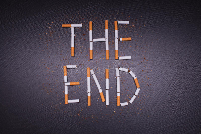Affiche contre le tabagisme images stock
