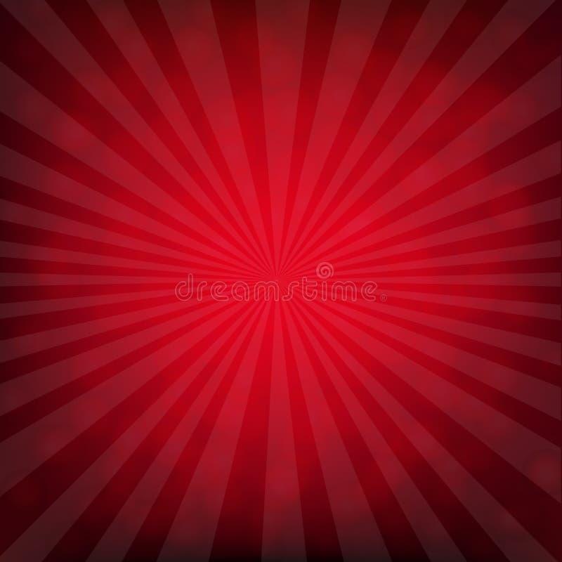 Affiche d'éclat de rouge avec Bokeh illustration libre de droits