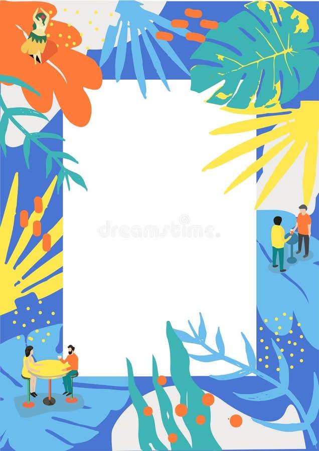 Affiche d'été pour l'événement de musique et pour le menu d'été photo libre de droits