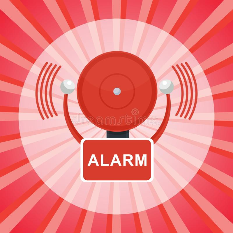 Affiche d'alarme d'incendie illustration stock