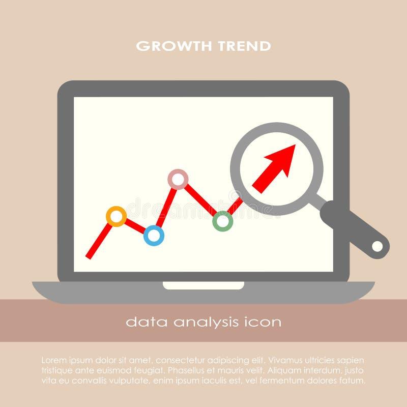Affiche d'analyse de données illustration de vecteur