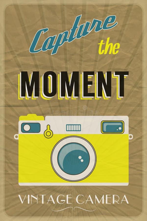 Affiche d'appareil-photo de vintage illustration libre de droits