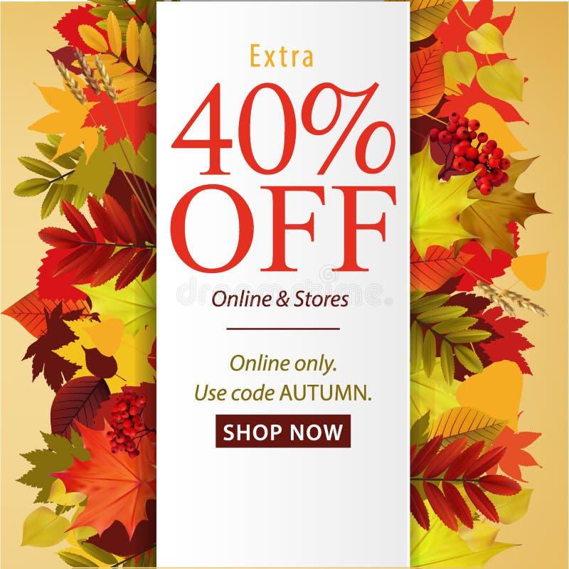 Affiche d'Autumn Sale illustration de vecteur