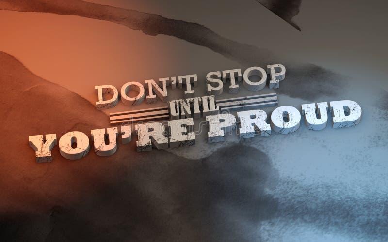 affiche 3D de motivation illustration stock