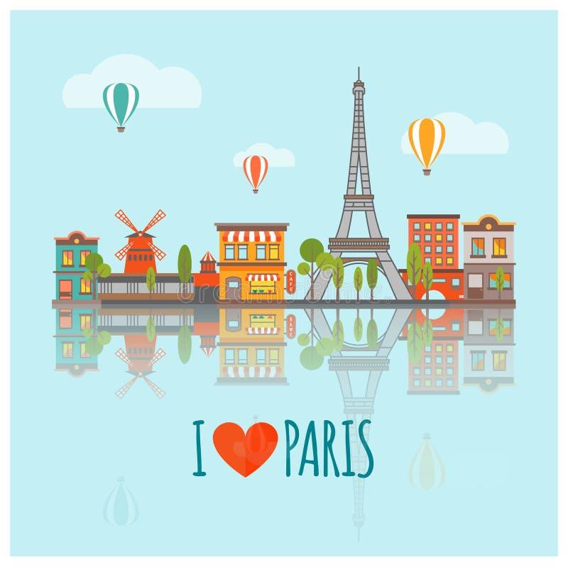 Affiche d'horizon de Paris illustration de vecteur