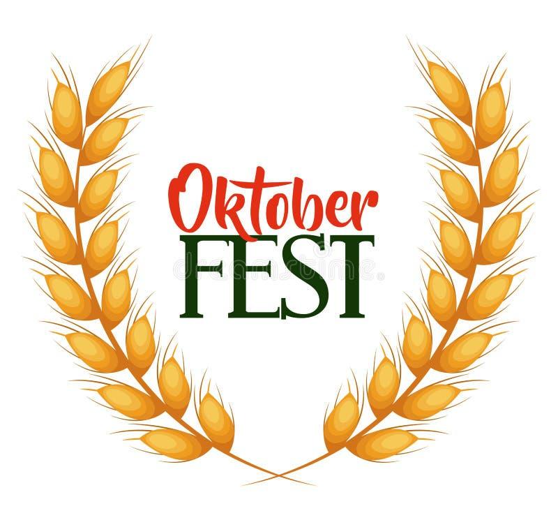 Affiche d'invitation de fest d'Oktober illustration de vecteur