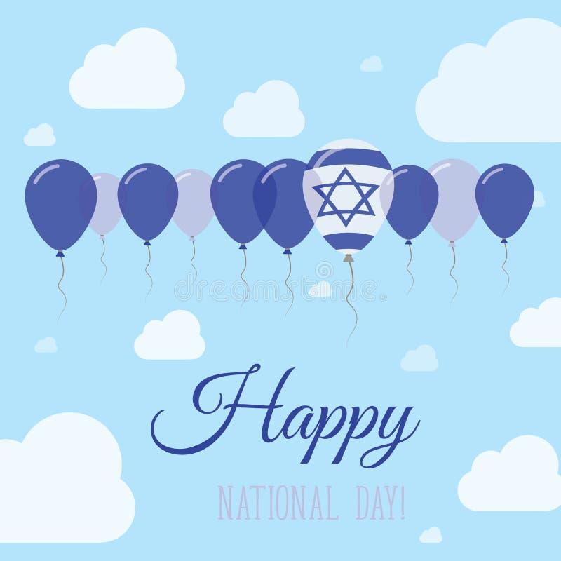 Affiche d'Israel National Day Flat Patriotic illustration de vecteur