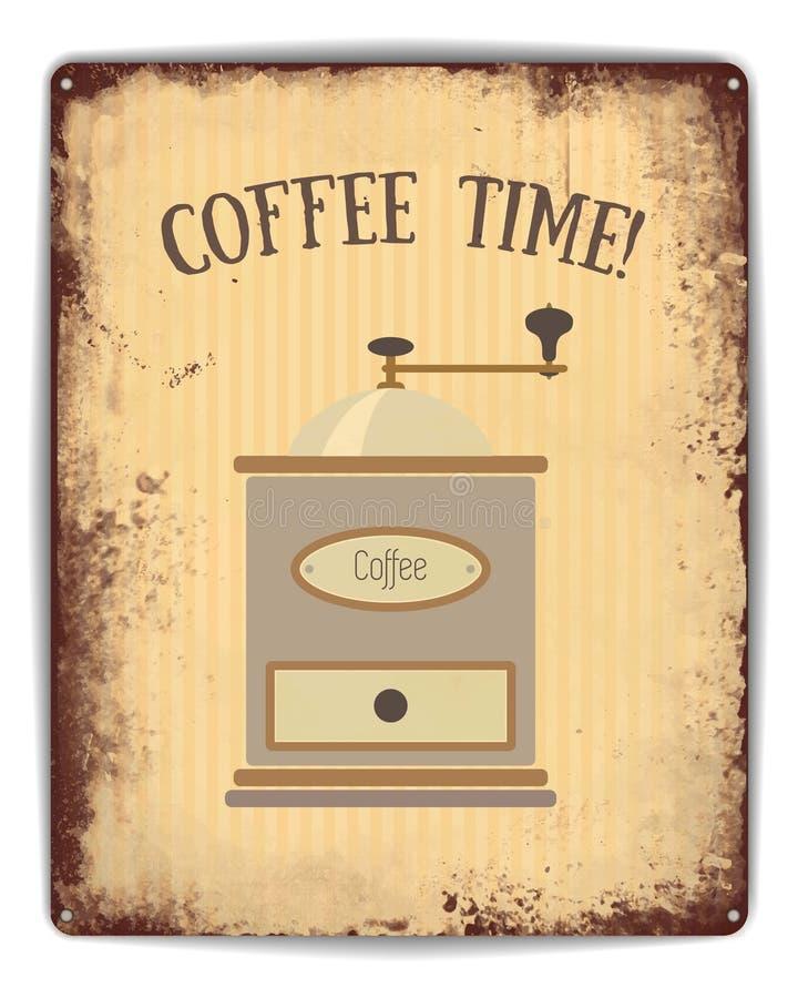 Affiche de bidon de temps de café illustration de vecteur