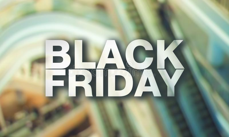 Affiche de Black Friday photographie stock