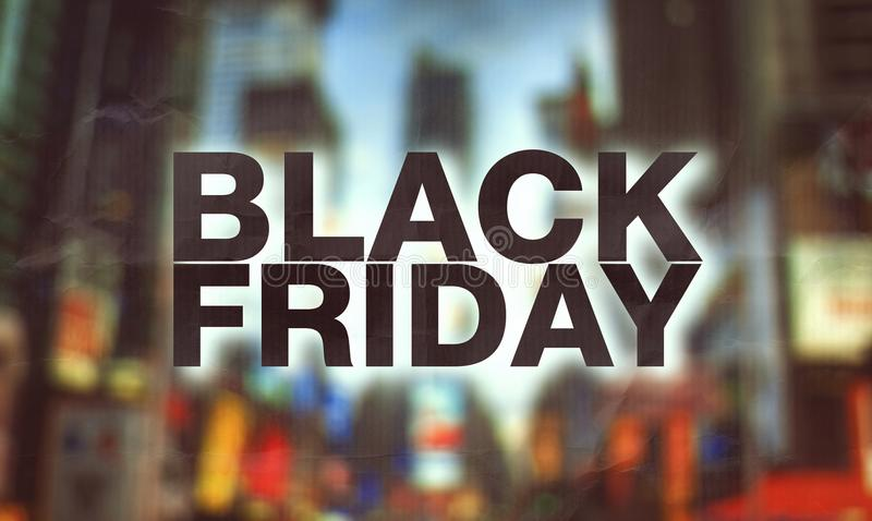 Affiche de Black Friday images libres de droits