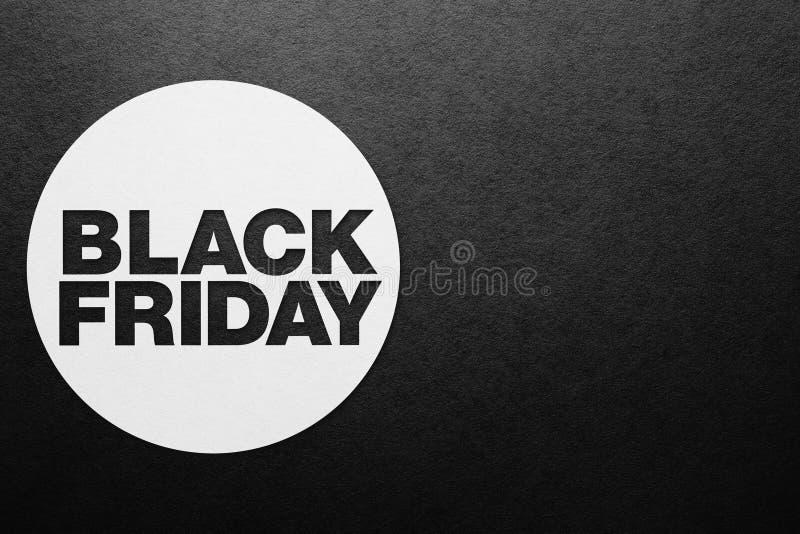 Affiche de Black Friday Texture (de papier) froissée photos stock