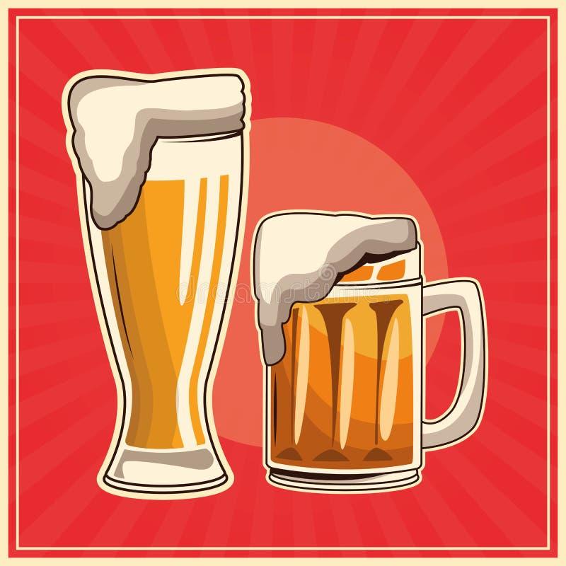 Affiche de boissons de vintage illustration libre de droits