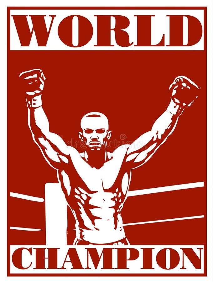 Affiche de boxe illustration de vecteur