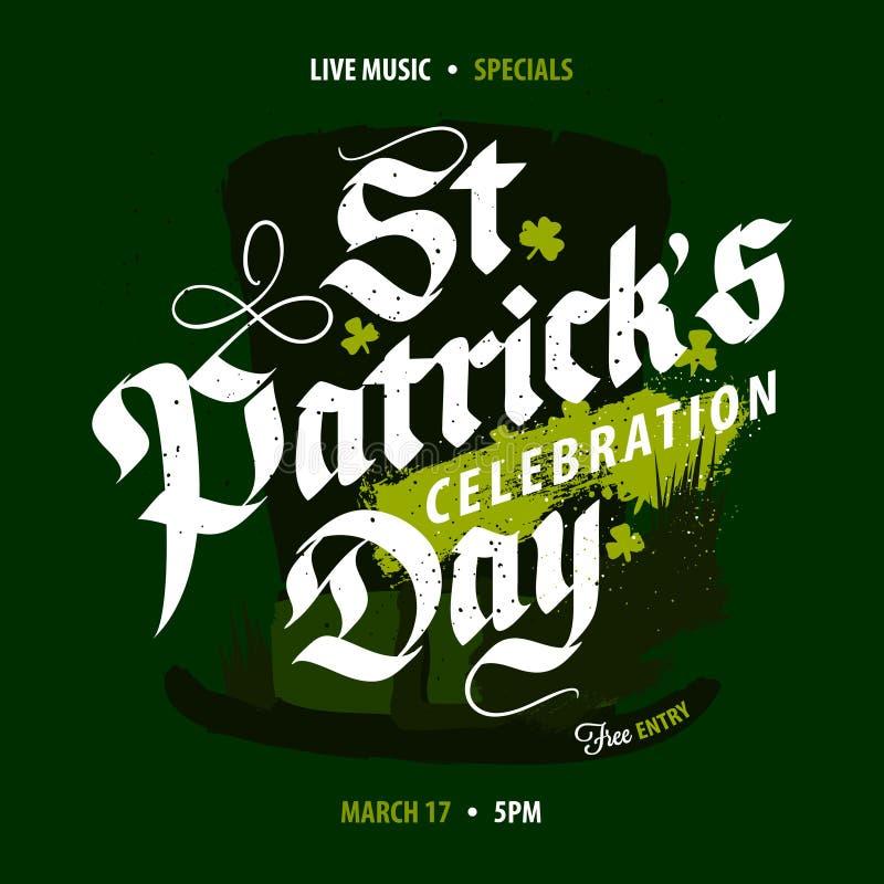 Affiche de célébration de jour du ` s de St Patrick illustration stock